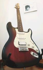 Cherryburst Fat-Strat Electric Guitar