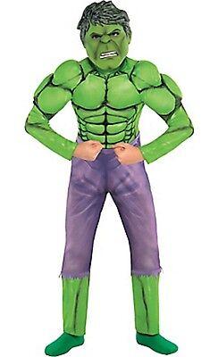 Marvel Comics Boys Child Hulk Muscle Halloween Costume Size 8-10 Medium NEW](Halloween Hulk Costumes)