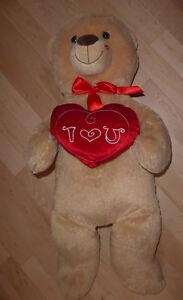 Tall Valentine's teddy bear
