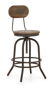 INDUSTRIAL WOODEN SEAT BAR STOOL COUNTER STOOL Cambridge Kitchener Area image 3