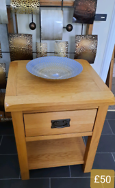 Lamp and console table