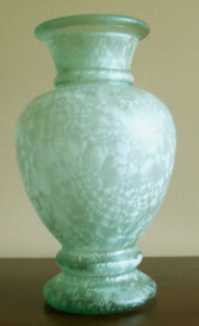 PRICE REDUCED --MOVING--Recycled Green Glass Vase