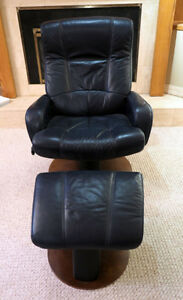 Palliser Reclining Leather Gliding Chair and Ottoman