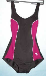 ONE PIECE BATHINGSUIT     BLACK/BURGUNDY