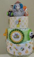 ANIMALS UNITED DIAPER CAKE