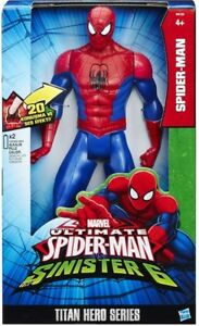 Marvel Ultimate Spiderman Titan Hero 12 Inch Talking 20 Phrases Sinister 6