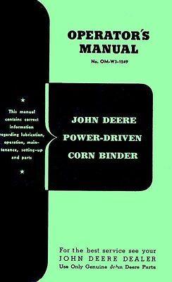 John Deere Power Driven Corn Binder Operators Manual