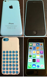 iPhone 5c, Blue, Like New, 16 GB, Original Accessories, Unlocked