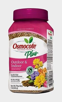 Outdoor Plant Food - OSMOCOTE PLUS Outdoor Indoor Plant Food Fertilizer Annuals Container Plants 1 lb