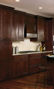 New solid wood cabinets