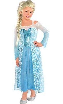 ChildnGirl's Disney Frozen Dress Up Elsa Costume NEW Play Child Size S, 4-6