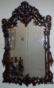 Beautiful Ornate Carved Wood Mirror