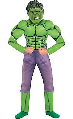 Marvel Comics Boys Child Hulk Muscle Halloween Costume Size 12-14 LARGE NEW](Halloween Hulk Costumes)