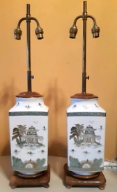 Pair matching Chinese lamps