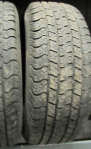2 Tires sized 235.70.17 at 70-75% Tread left on them Selling for