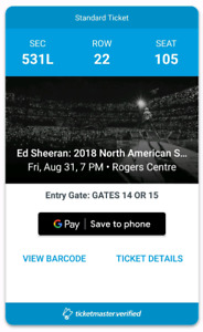Ed Sheeran! - SOLD OUT!- Live @ Rogers Center! - Friday Aug 31 !