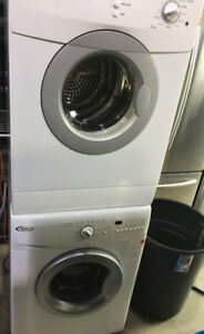 """Whirlpool white 24"""" front load washer & dryer set PRICE $799"""