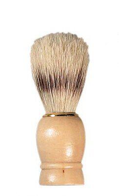 Borste Rasierpinsel (Rasierpinsel Rasur Pinsel mit Borste Holzgriff Holz 10cm x 3,5cm)