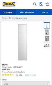 IKEA stave mirror
