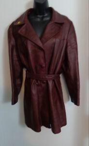 Vintage Leather Coat XXL Womans