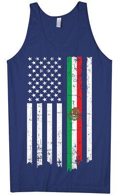 Mexican American Flag Men's Tank Top Mexico Descent US Pride