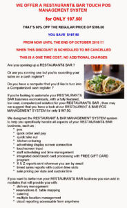 UPGRADE YOUR CASH REGISTER TO A RESTAURANT& BAR TOUCH POS SYSTEM