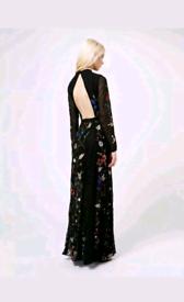 Limited edition Miss Selfridge maxi embroidered dress UK 8 EU 36