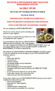 RESTAURANT & BAR POS SOFTWARE SYSTEM for only $197.50 !