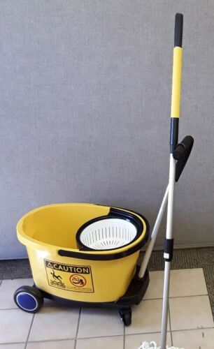 Commercial Spin Mop 35 qt. Bucket and Trolley Combo