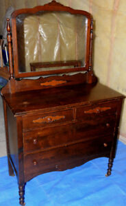 Dresser with Swing Mirror