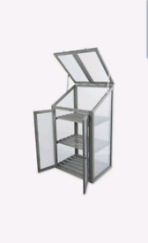 Small Grey Mini Wooden Greenhouse | Brand New | With Lif