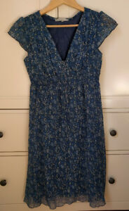 Blue flowered summer dress