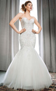 Size 6 Wedding gown Kenneth Winston Strapless Fit & Flare dress