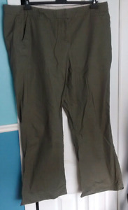 Moss green full length summer pants