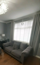 Dunelm silver eyelet curtains