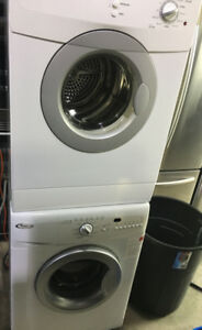 "Whirlpool 24"" front load washer & dryer set PRICE $799"