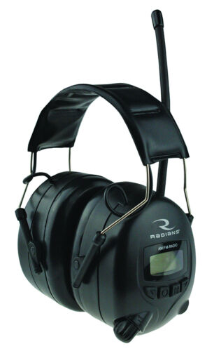 Radians Digital Radio Earmuffs Safety AM/FM Headset Hearing Protection Ear Muffs