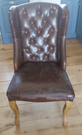 Brown leather (Faux) chair
