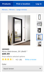 Selling IKEA Hemnes Full Length Wall Mirror