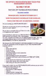 DO YOU NEED A RESTAURANT& BAR POS SYSTEM TO  RUN YOUR RESTAURANT
