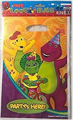 BARNEY Dinosaur Party Supplies Bags Treats Birthday Decoration Baby 10 PCS Favor - Barney Birthday Party Supplies