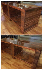 SOLID WOOD RUSTIC COFFEE TABLE BENCH