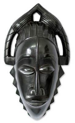 MAIDEN_IVORY COAST_Wood Mask African Art NOVICA