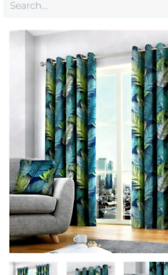 Curtains and cushion covers