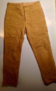 Klaxon Howl Moleskin  trousers. men's 32.