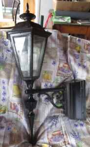 Large Iron Carriage Lights with Wall Brackets 4 Available