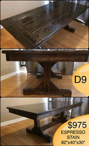 CUSTOM SOLID WOOD RUSTIC DINING TABLES, BENCHES AND MORE Kingston Kingston Area image 10