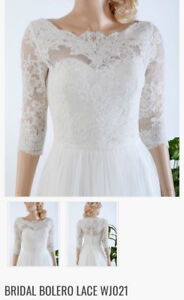 Lace bridal bolero- size S; BRAND NEW WITH TAGS
