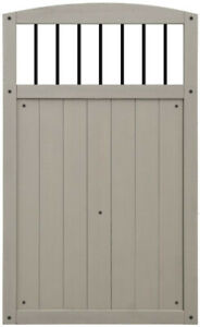 Yardistry Gate With Black Balusters REDUCED PRICE!