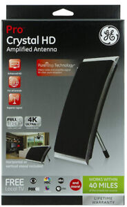 New GE Pro Crystal HD Amplified Antenna  Smart TV Compatible